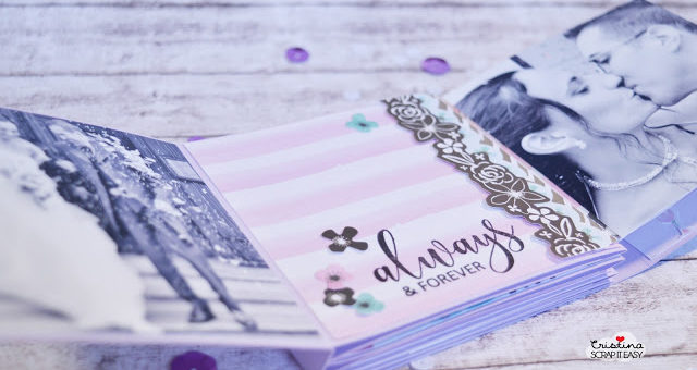 Kit small aprile: lilac wedding mini album